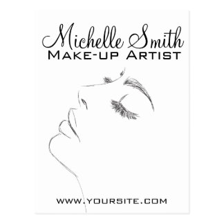 Long lashes eyeliner Lash Extensions Black Sketch Postcard