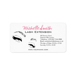 Long lashes Lash Extension Eyeliner branding Label