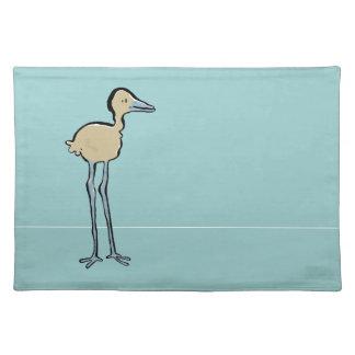 long legged bird cloth placemat