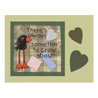 Long Legged Crow-Somethin to Crow About Postcard