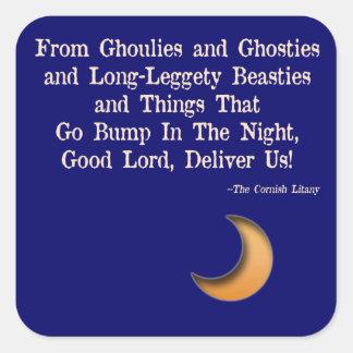 Long Leggety Beasties Square Sticker