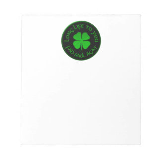 Long Life To You Irish Saying Notepad