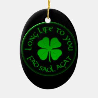 Long Life To You Irish Saying Christmas Ornaments