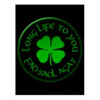 Long Life To You Irish Saying Postcard