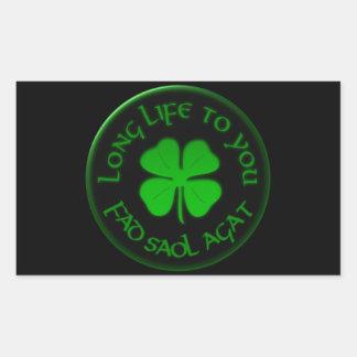 Long Life To You Irish Saying Rectangular Sticker