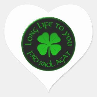 Long Life To You Irish Saying Heart Sticker
