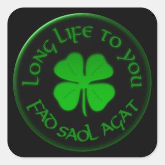 Long Life To You Irish Saying Square Sticker