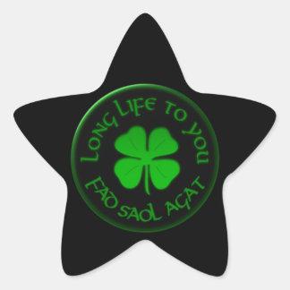 Long Life To You Irish Saying Star Sticker