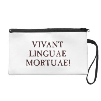 Long Live Dead Languages - Latin Wristlet Purse