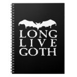 Long Live Goth Vampire Bat Spiral Notebook