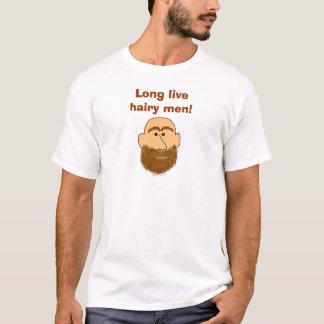 Long Live Hairy Men Cute Beard T Shirt Template
