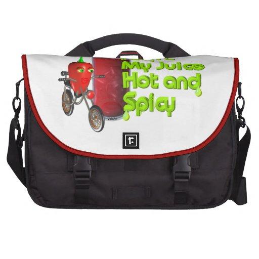 Long Live Juicing on laptop bag Valxart.com