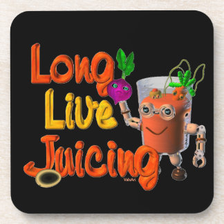 Long Live Juicing template Valxart.com Drink Coaster