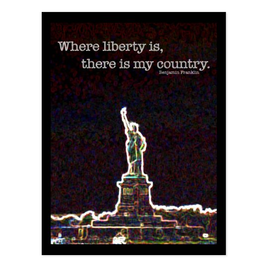 Long Live Liberty Postcard