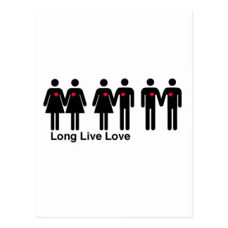 Long Live Love Postcard