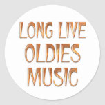 Long Live Oldies Music Classic Round Sticker