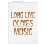 Long Live Oldies Music Greeting Card