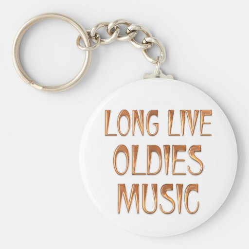 Long Live Oldies Music Keychains