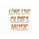 Long Live Oldies Music Postcard