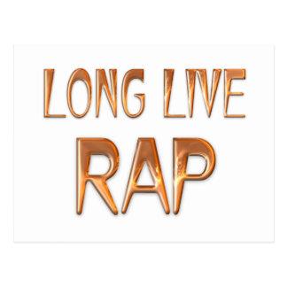 Long Live Rap Postcard