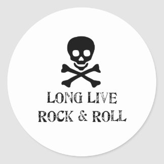 Long Live Rock & Roll Classic Round Sticker