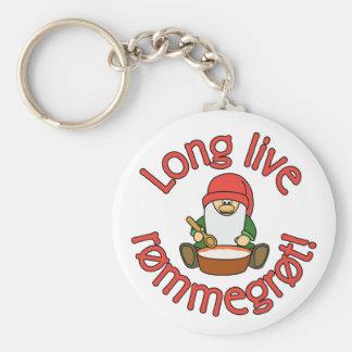 Long Live Rømmegrøt (rommegrot) Keychain