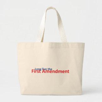 Long live the 1st Amenedment Large Tote Bag