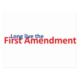 Long live the 1st Amenedment Postcard