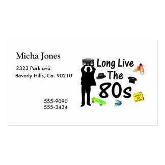 Long Live The 80s Culture Business Cards