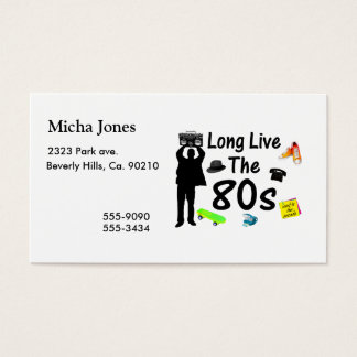 Long Live The 80s Culture Business Card