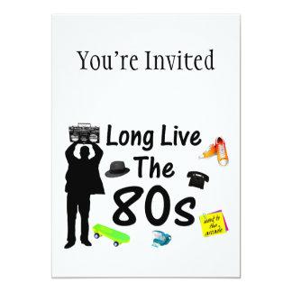 Long Live The 80s Culture Invite