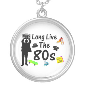 Long Live The 80s Culture Silver Plated Necklace