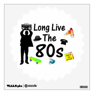 Long Live The 80s Culture Wall Sticker