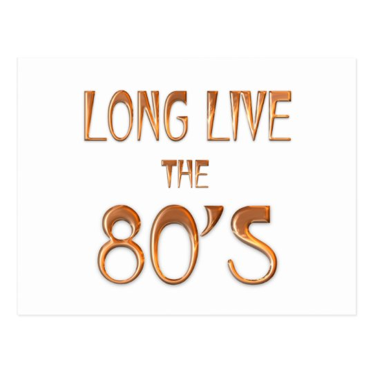 Long Live the 80s Postcard