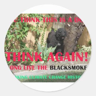 LONG LIVE THE BLACKSMOKE ROUND STICKERS