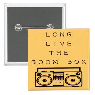 Long Live The Boom Box-Button 2 Inch Square Button