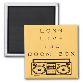 Long Live The Boom Box-Magnet 2 Inch Square Magnet