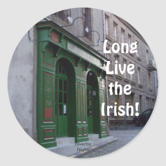 Long Live the Irish Classic Round Sticker