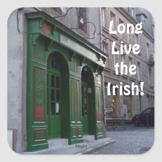 Long Live the Irish Square Sticker