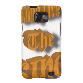 Long Live The King Nice Design transparant Galaxy S2 Cases