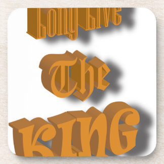 Long Live The King Nice Design transparant Coaster
