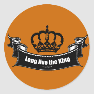 Long live the King Round Sticker
