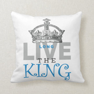Long Live The King Throw Pillow