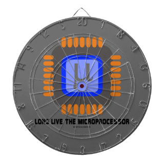 Long Live The Microprocessor (Geek Humor) Dart Board