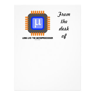 Long Live The Microprocessor (Geek Humor) Letterhead