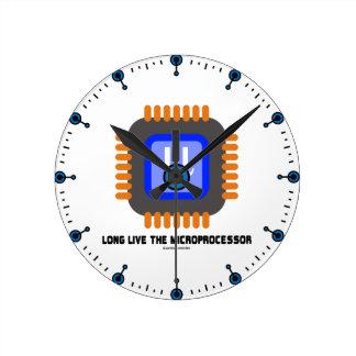 Long Live The Microprocessor (Geek Humor) Round Clock