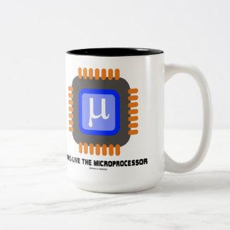 Long Live The Microprocessor (Geek Humor) Two-Tone Coffee Mug