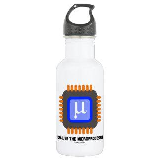 Long Live The Microprocessor (Geek Humor) Water Bottle