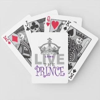Long Live the PRINCE! Bicycle Playing Cards