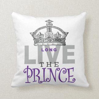 Long Live the PRINCE! Throw Pillow